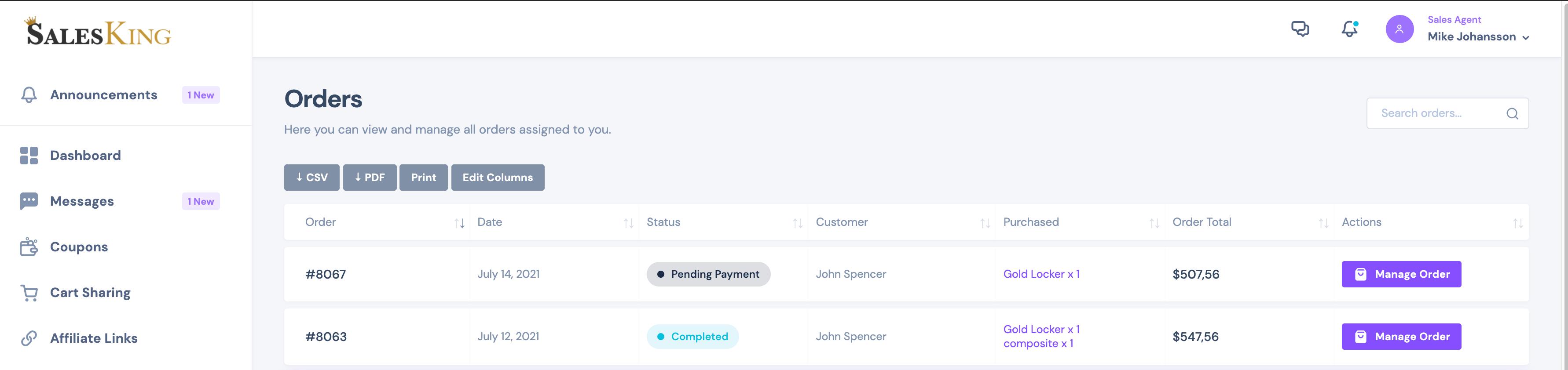 SalesKing - Ultimate Sales Team, Agents & Reps Plugin for WooCommerce - 12