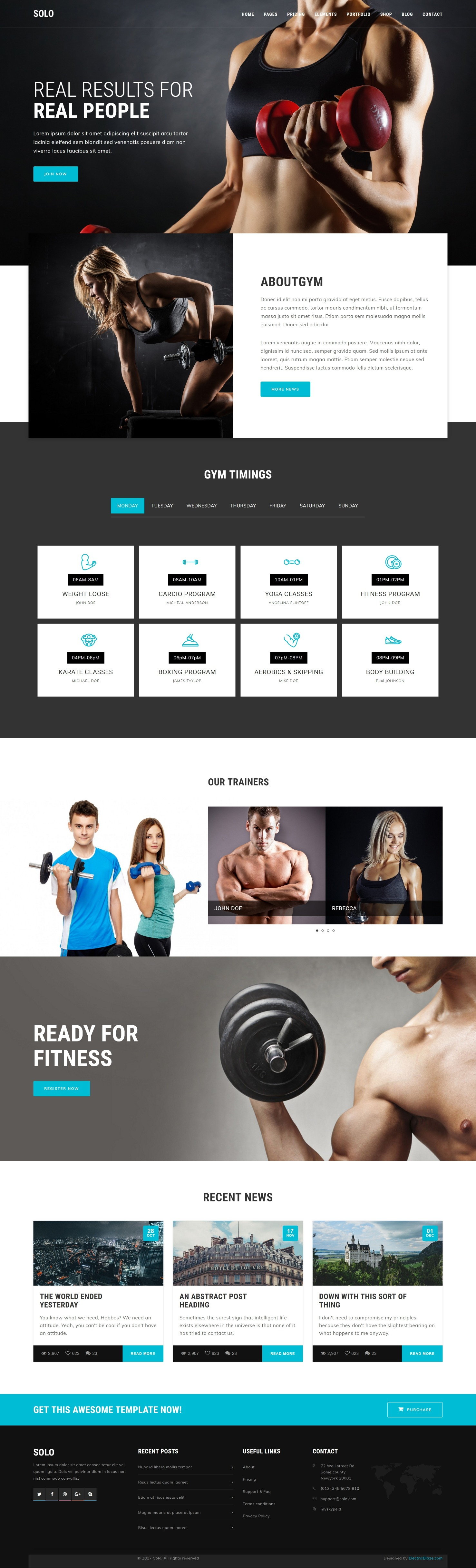 Solo - 103+ Pages HTML Bootstrap Template by ElectricBlaze | ThemeForest