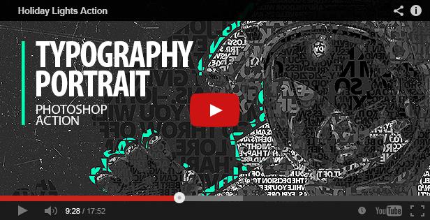 Typography Portrait - Photoshop Action by Vladuha | GraphicRiver