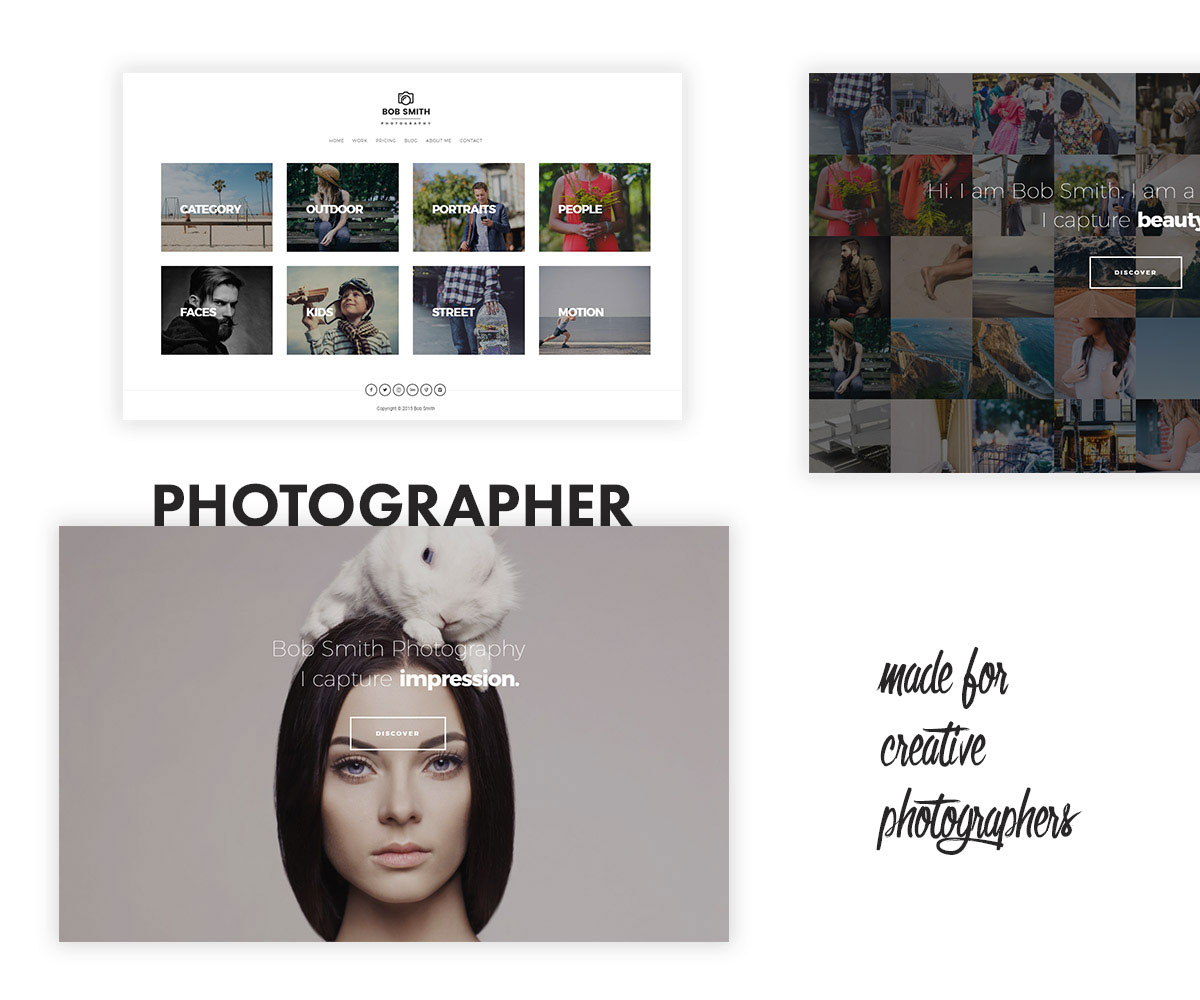 Photographer WordPress Theme by Pixelwars