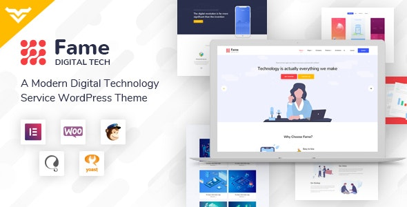 Fame - Digital Technology/Service WordPress Theme