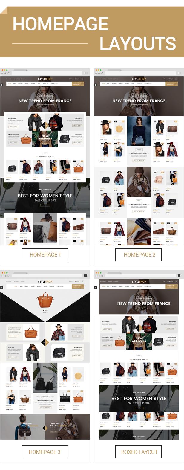 Styleshop - Homepage