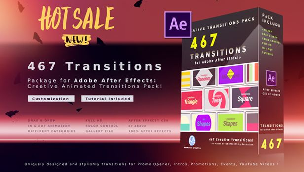 199 Transitions Pack by BoxMotion   VideoHive