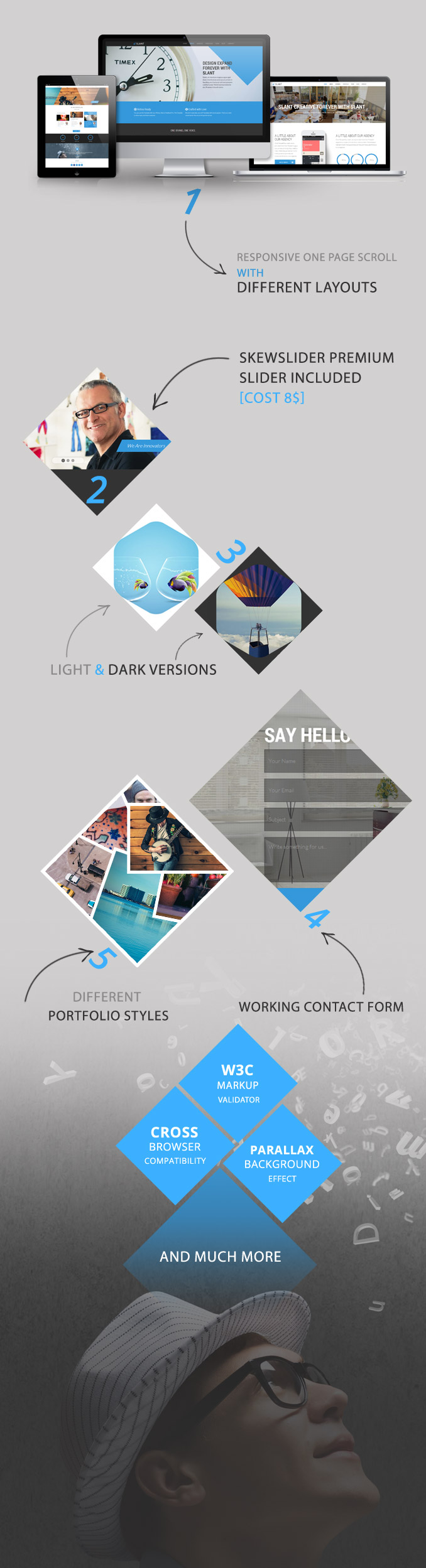 Slant - One Page Responsive Template - 5