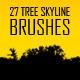 27 Tree Skyline Photoshop Brushes