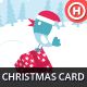 Illustrated Christmas Card with Bird - GraphicRiver Item for Sale