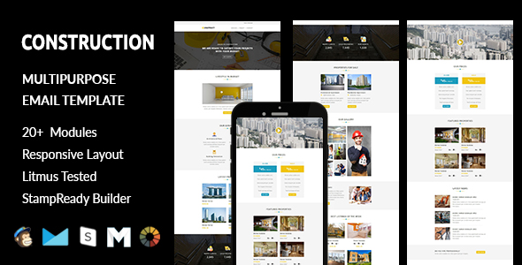 iConstruct - Multipurpose Responsive Landing Pages - 1