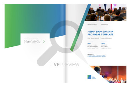 buyer review event media sponsorship proposal template