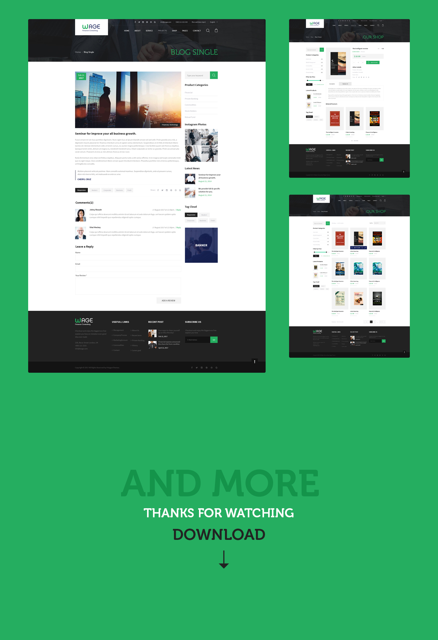 Wage - Business and Finance WordPress Theme - 15