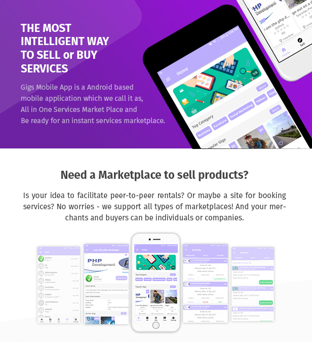 Gigs (Services Marketplace) - Native Android App | Fiverr Clone - 1