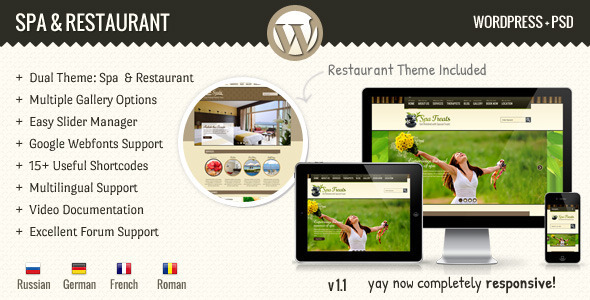 SPA & Restaurant WordPress