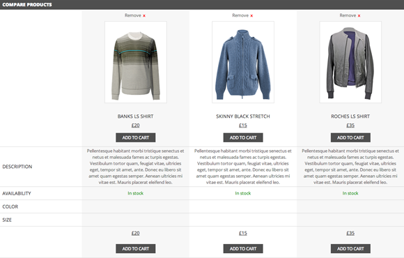 YITH WooCommerce Compare List