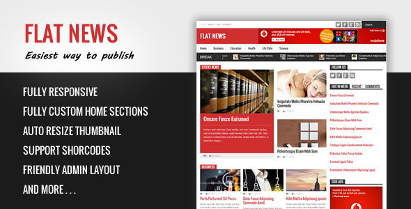 Flat News - Easy News & Magazine Template - Blogger Blogging
