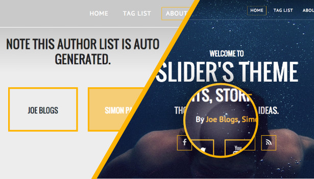 auto generate all authors list