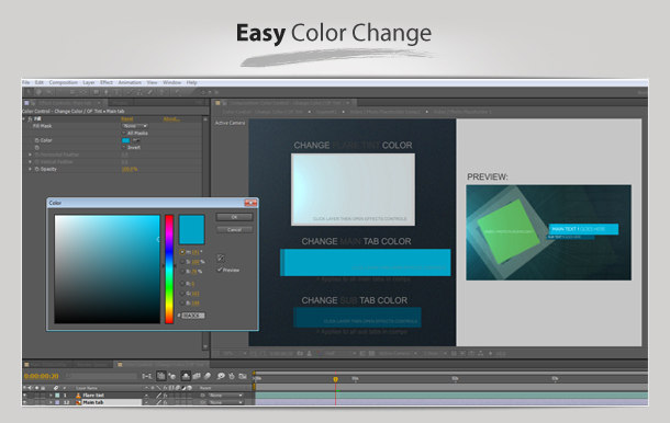 color panel after effects