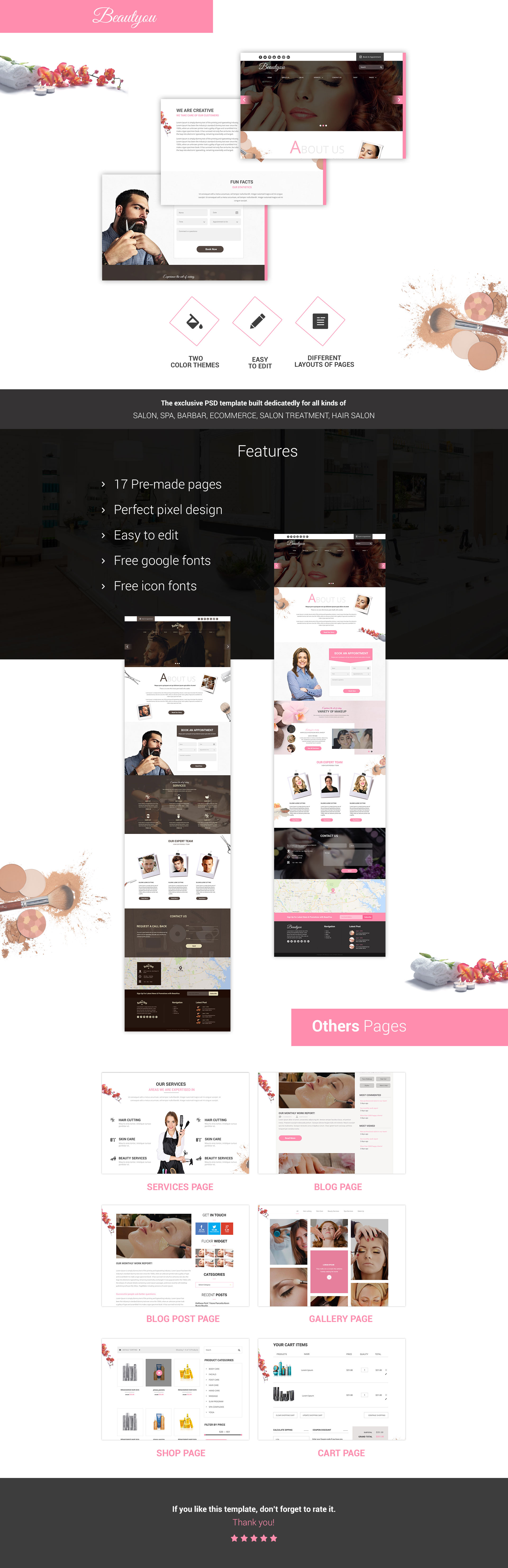 Beautyou - Beauty Salon Template
