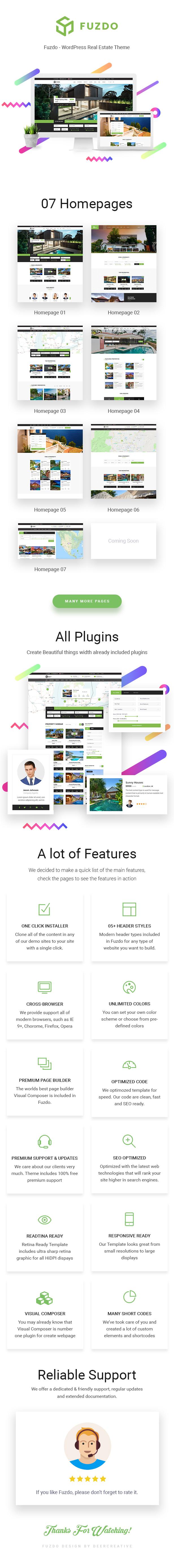 Fuzdo - Real Estate WordPress Theme - 3