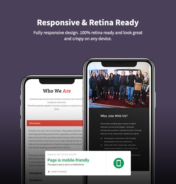 Political WordPress Theme responsive