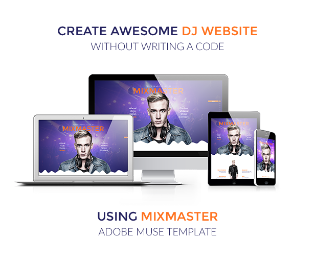 MixMaster - DJ / Producer Website Muse Template - 1