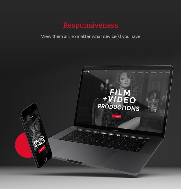 Filmmaker Director Film Studio WordPress Theme - Fully Responsive