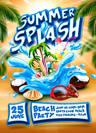 Design Cloud: Summer Splash Party Flyer Template