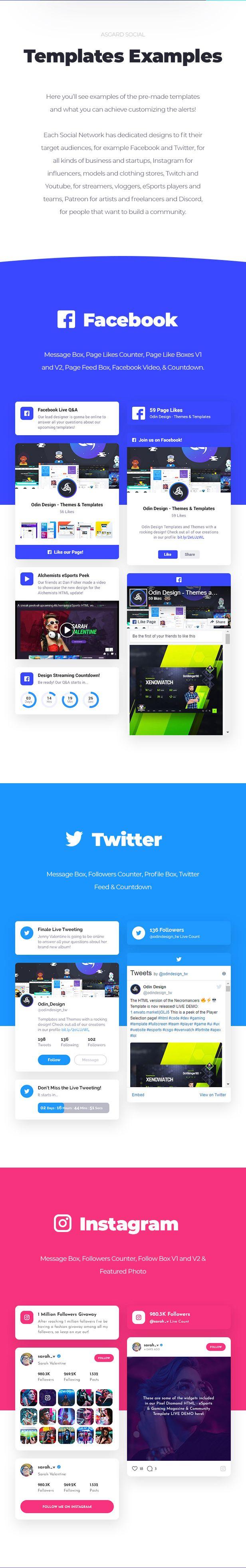 Asgard - Sosyal Medya Uyarılar ve Yemler WordPress Oluşturucu - Facebook, Instagram, Twitch ve daha fazlası! - 14