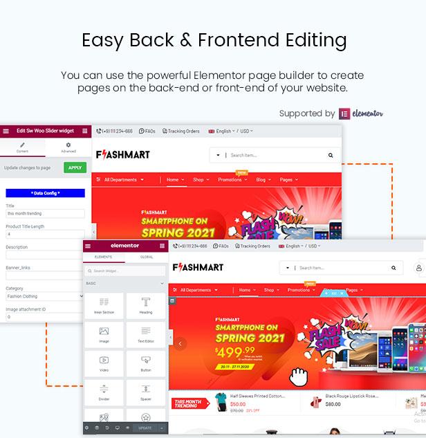 FlashMart - Multipurpose Elementor WooCommerce WordPress Theme - Backend Settings