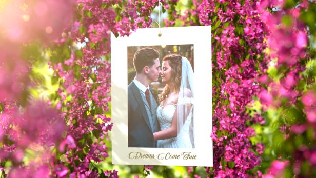 Pink Flowers Wedding Slideshow - 2