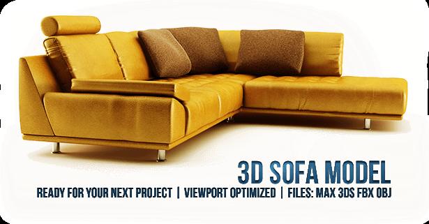3D sofa model presentation
