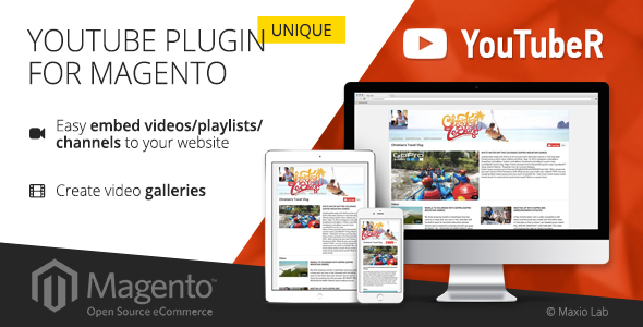 YouTubeR - unique YouTube video gallery for Magento