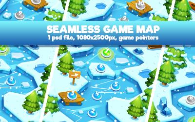 Island Palm Seamless Game Map - 4
