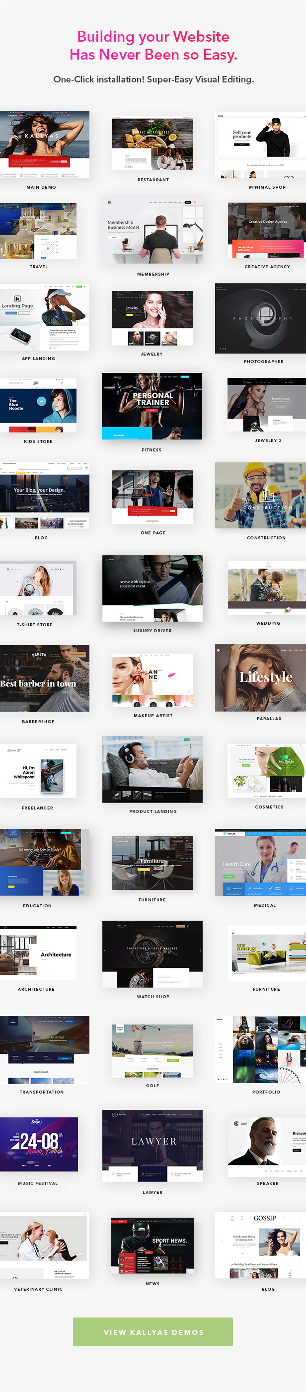 Kallyas Wordpress Theme Demos