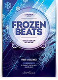 Frozen Beats Flyer