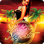 Latin Nights Tiki Luau Flyer