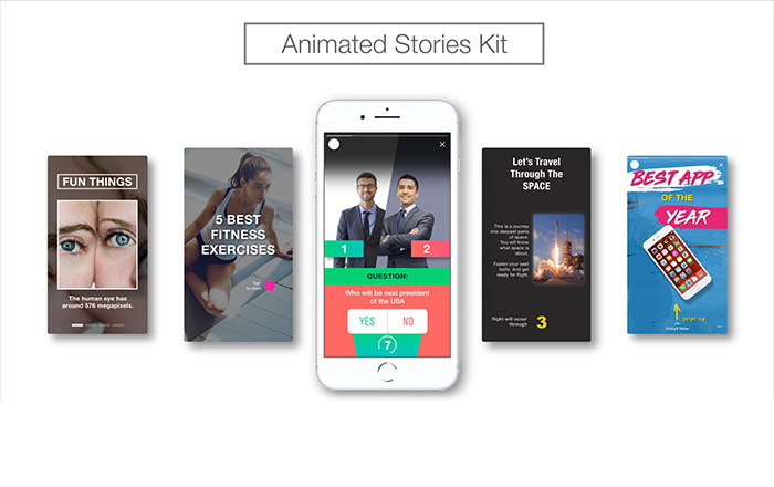 Animated Stories Kit // Instagram, Snapchat, Facebook - 2