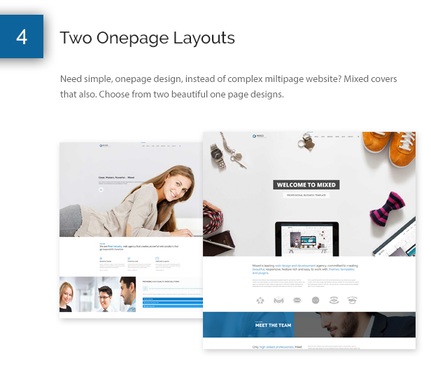 Mixed Modern and Professional HTML Template - 6