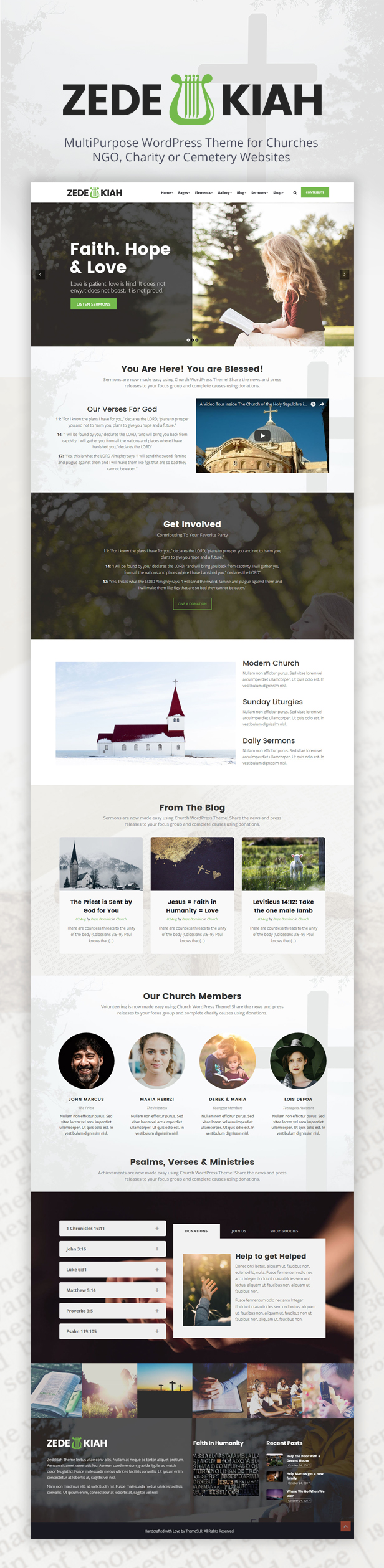 Zedekiah - MultiPurpose Church & Religion WordPress Theme - 1