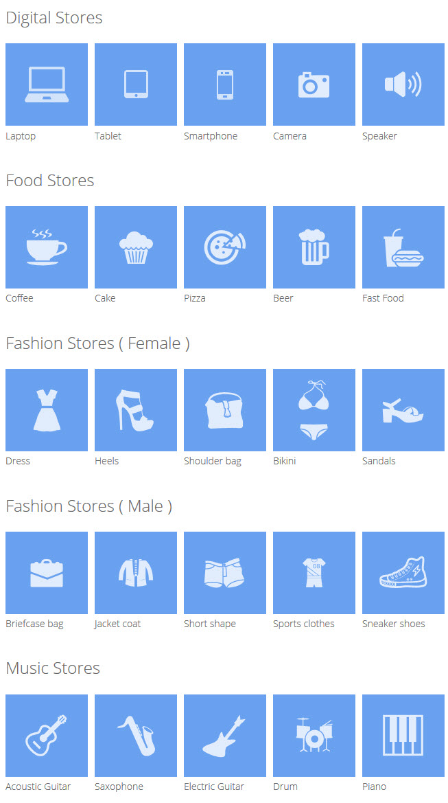 Meline- Store icons