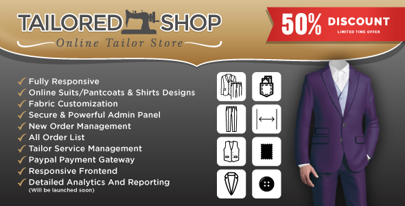 Tailored Shop – Online Tailor Store - Garments And Fashion House Management System -Tailoring System
