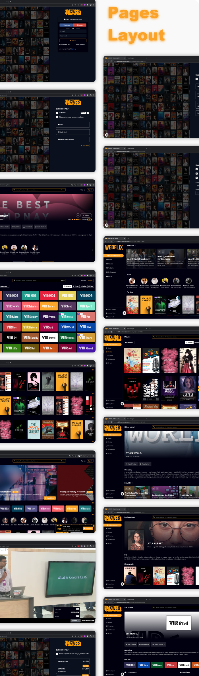 WebFlix - Movies - TV Series - Live TV Channels - Subscription - 12