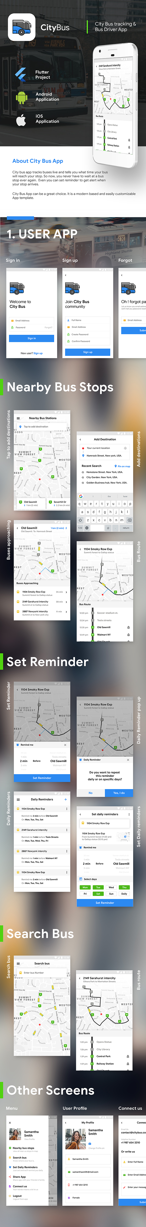 City Bus Tracking Android App Template & iOS App Template | Driver + Passenger | Flutter - 3