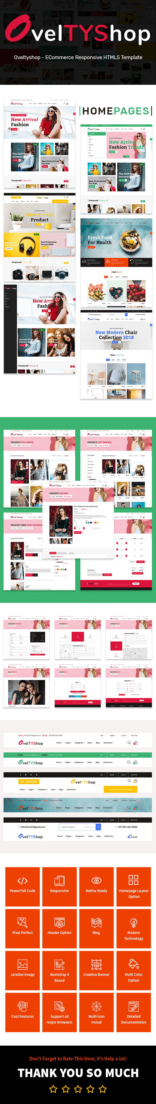 Oveltyshop - ECommerce Responsive Sectioned Drag & Drop Shopify Theme - 1