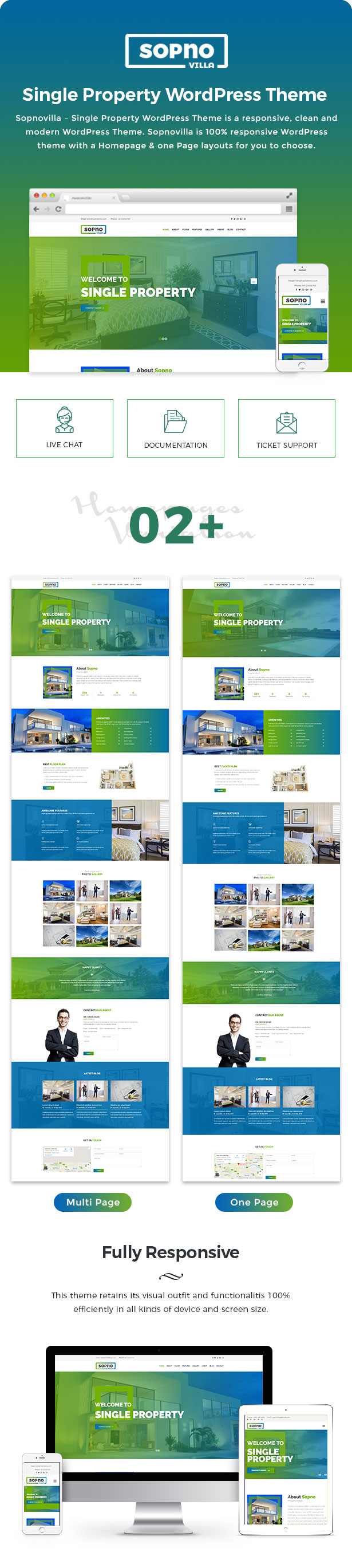 Sopnovilla – Single Property WordPress Theme - 1