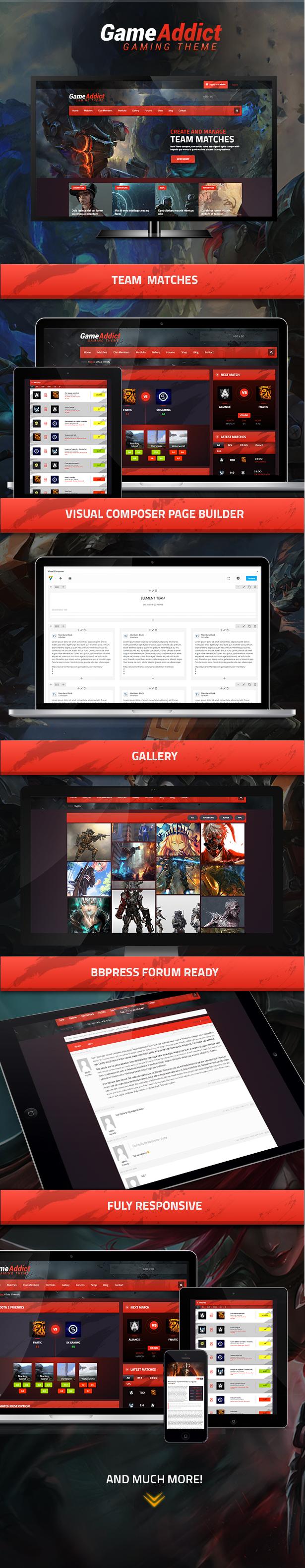 Game Addict - Clan War Gaming Theme