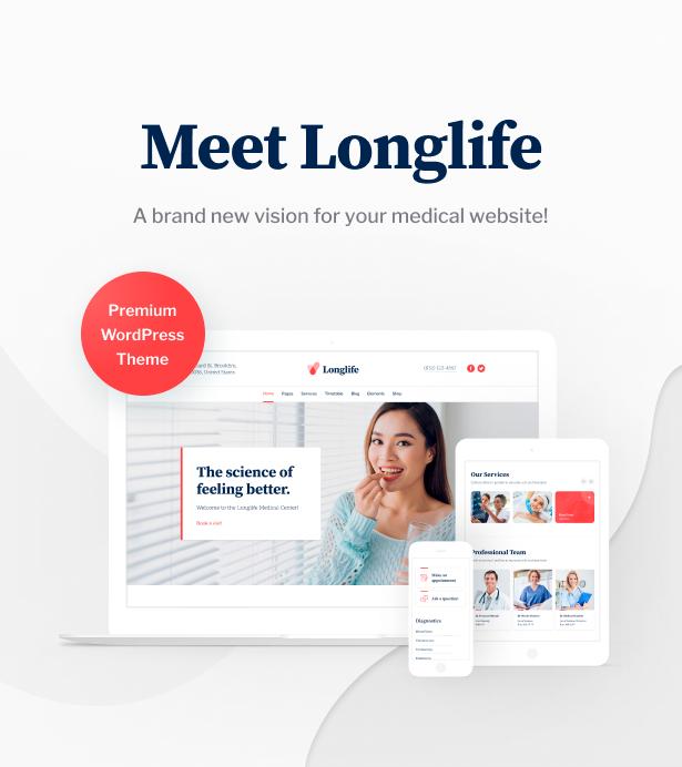 LongLife - Doctor, Health & Medical WordPress Theme - 2