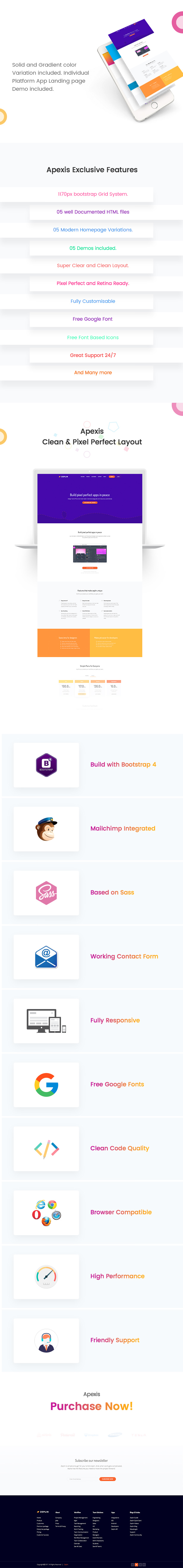 Apexis - Responsive Bootstrap 4 Software & WebApp HTML5 Template - 3