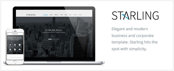 Starling - Multipurpose Adobe Muse Template