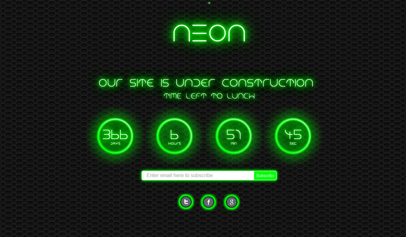 Neon - Responsive Under Construction Page - 5