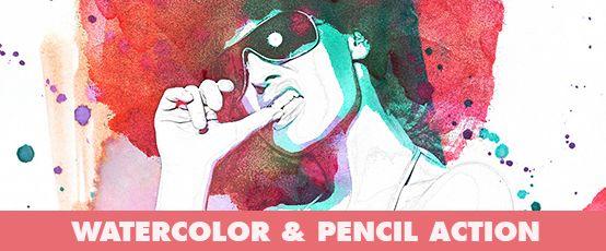 Watercolor Photoshop Action - 147