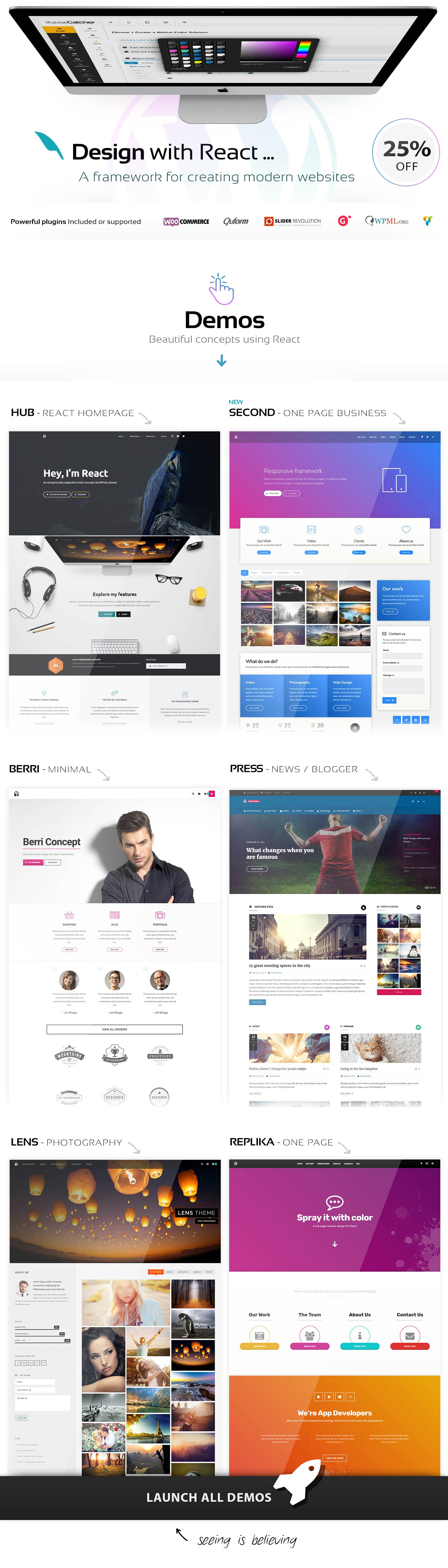 React - WordPress theme